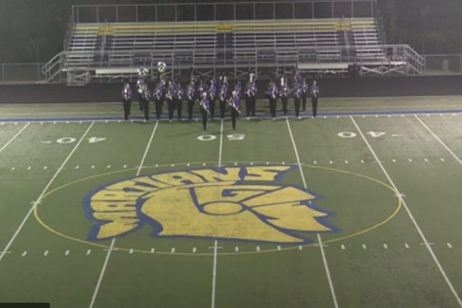 Marching band goes to festival